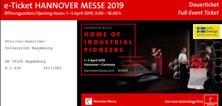 e-Ticket Hannover Messe